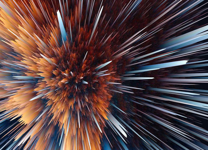 Particle Explosion,作者:Ahmed Nabil
