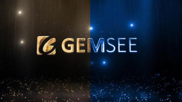 AE模板 LOGO展示 金色粒子闪耀舒缓展示LOGO标志视频