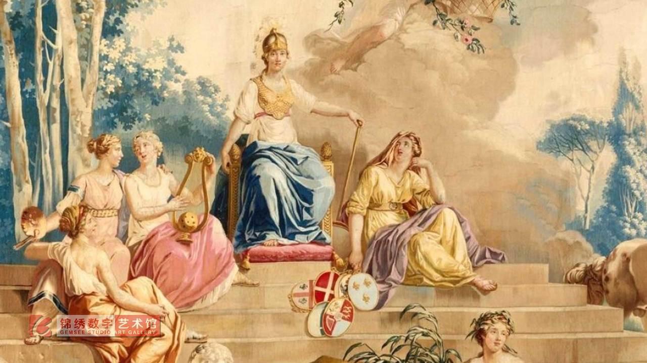 锦绣画屏 四大洲之欧洲 挂毯