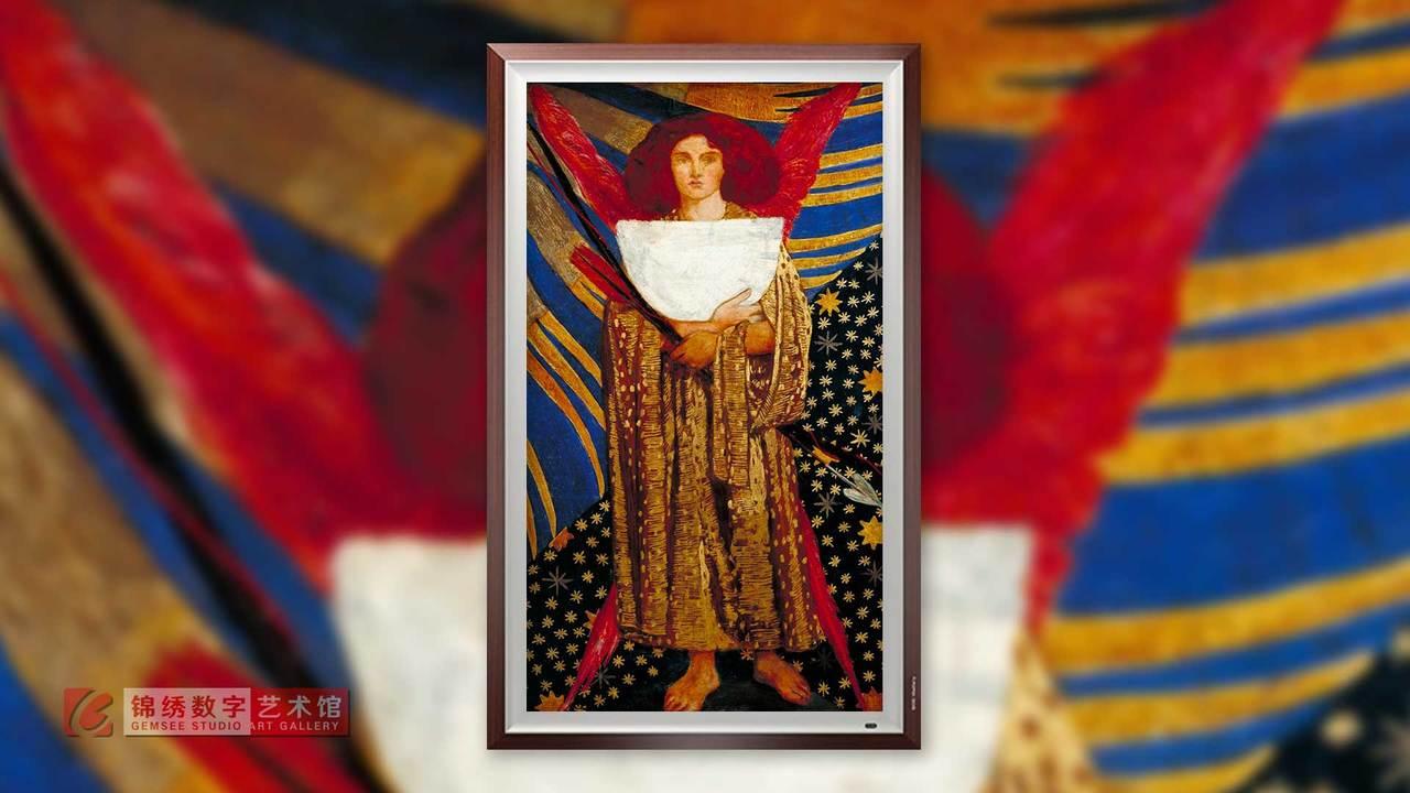 锦绣画屏 但丁的爱神丘比特 罗塞蒂