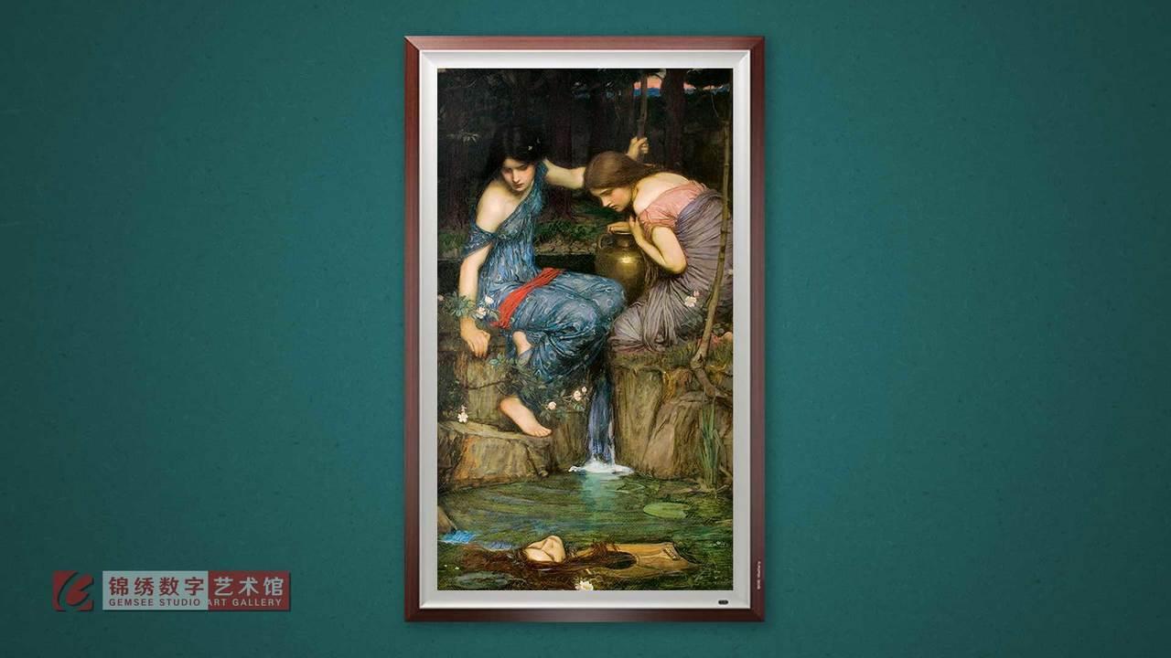 锦绣画屏 水仙发现俄尔普斯的头