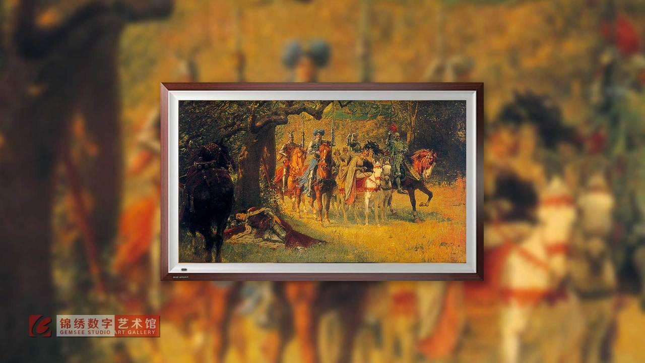 画屏 圣杯礼拜堂的兰斯洛特 伯恩琼斯