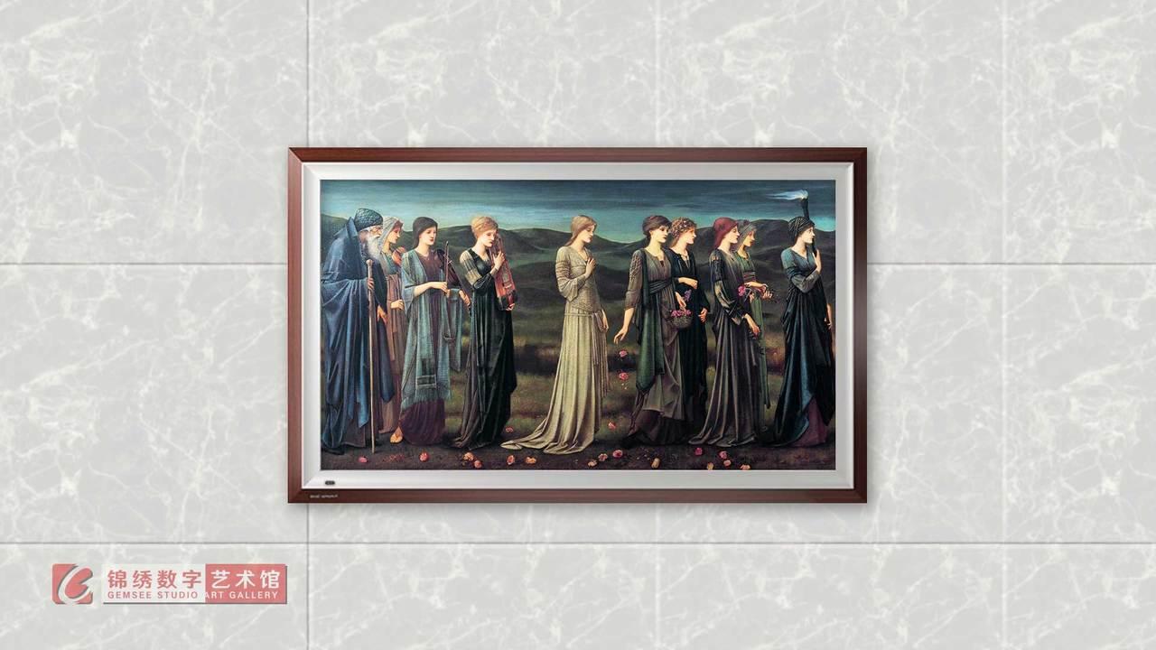 画屏 普赛克的婚礼队伍 伯恩琼斯