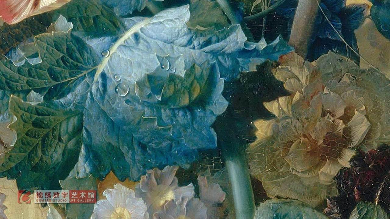 画屏 8K_花瓶里的花和鸟巢 海以森