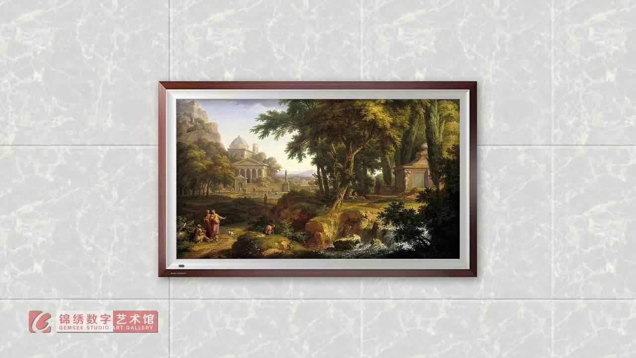 画屏 阿卡迪亚风景圣彼得和约翰医治瘸子 海以森