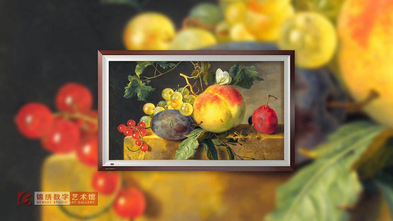 画屏 静物水果 海以森