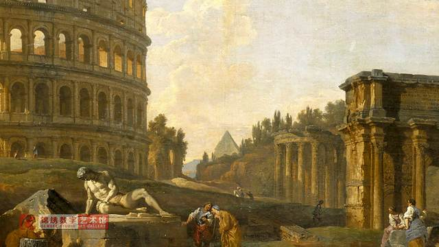 画屏 罗马竞技场和其他纪念碑 帕尼尼