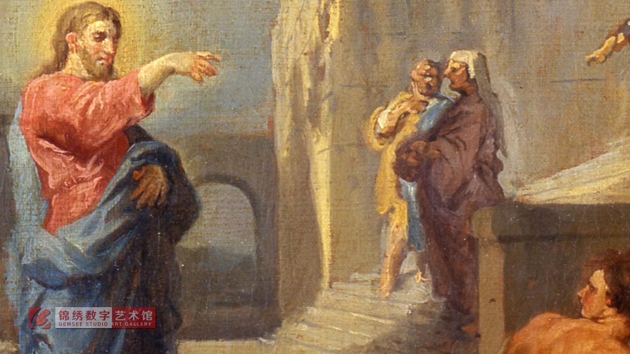 画屏 圣马太蒙召 帕尼尼