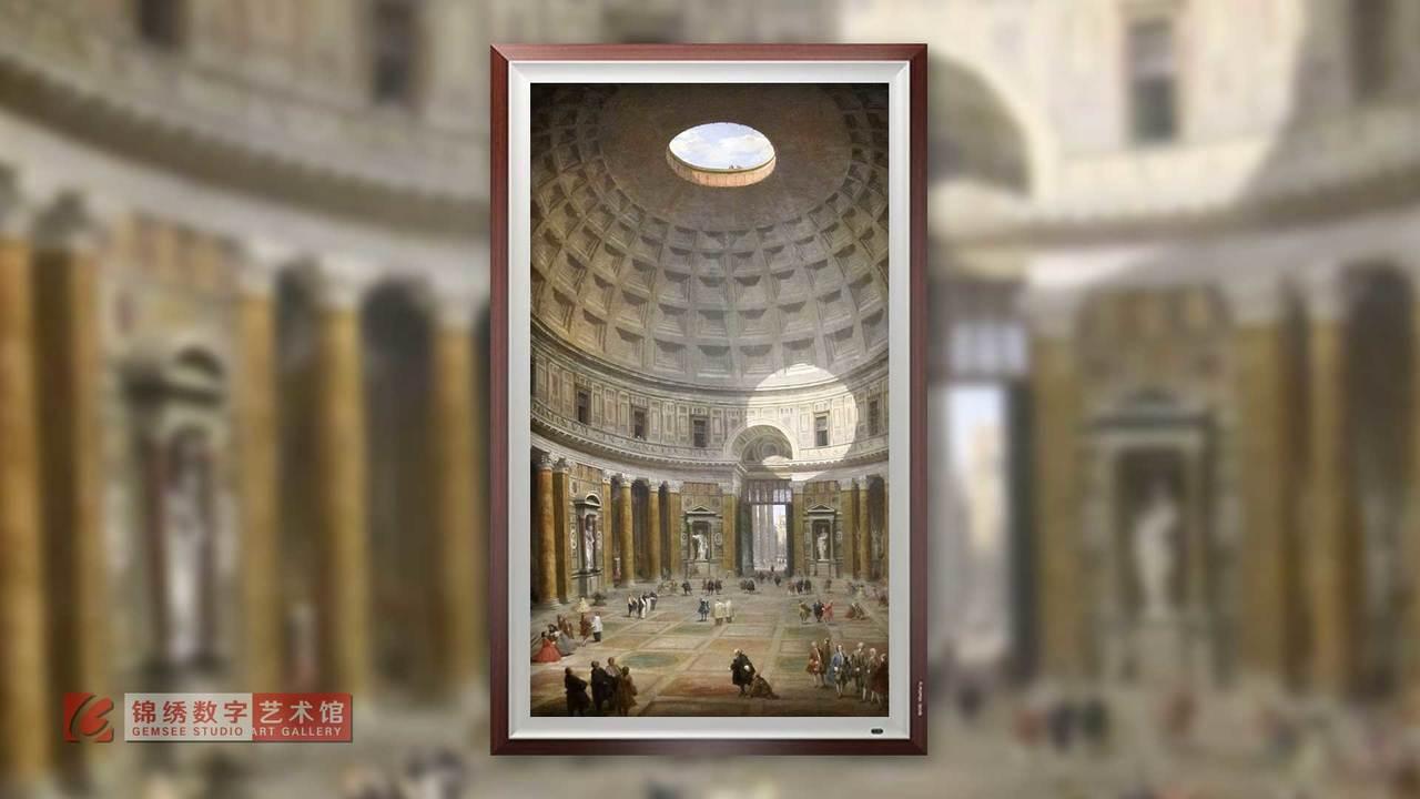 画屏 万神殿内部 帕尼尼