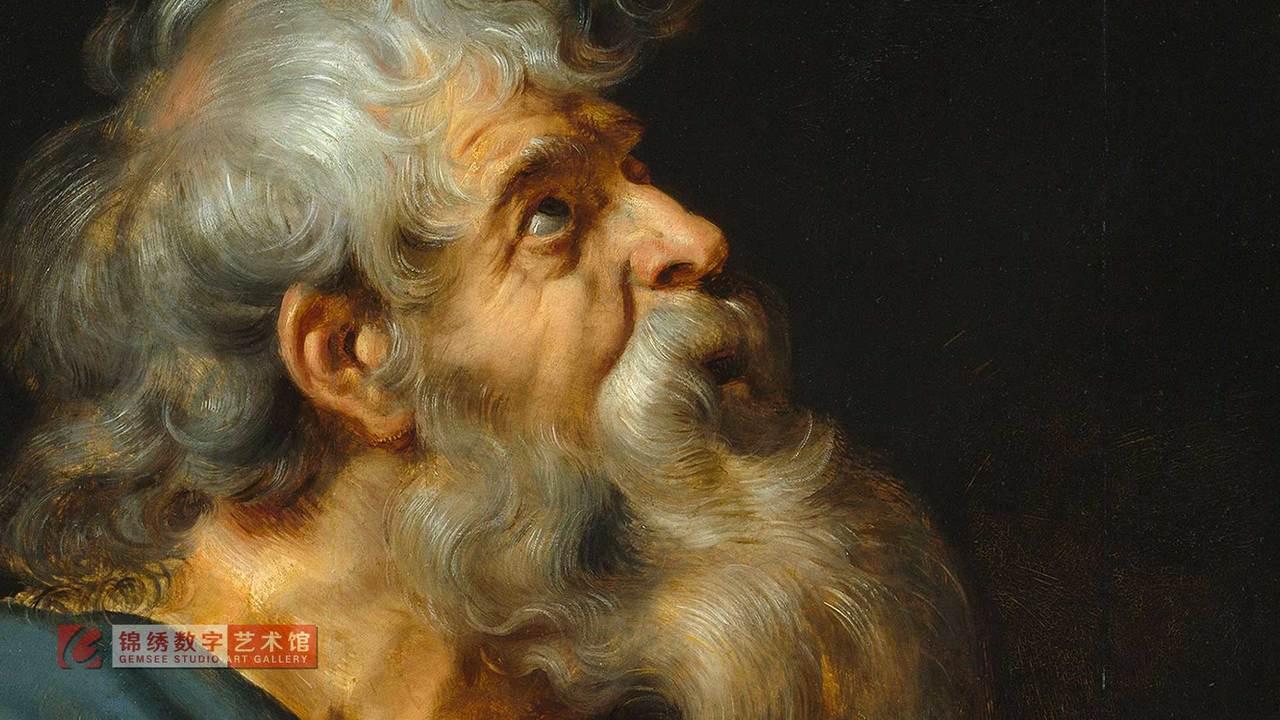 画屏 十二门徒之马提亚肖像 鲁本斯