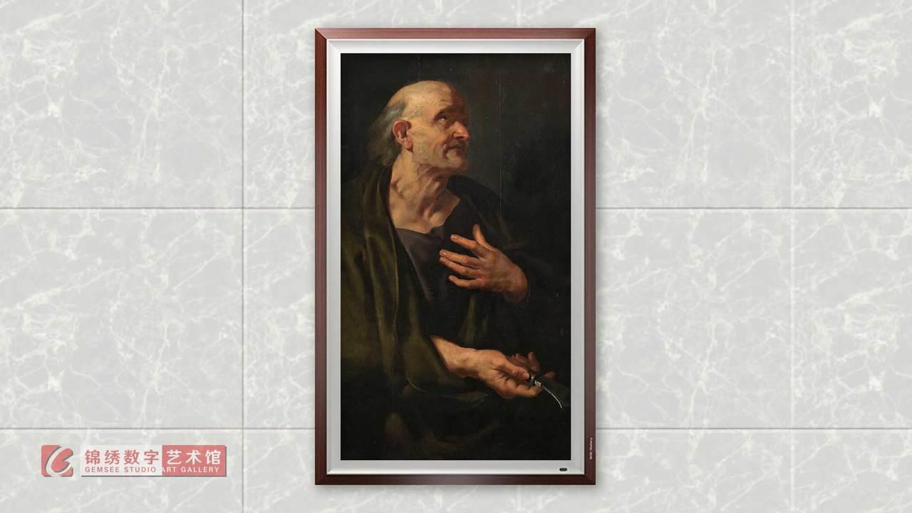 画屏 十二门徒之巴多罗买肖像 鲁本斯