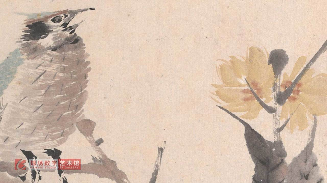 画屏 花鸟蔬果册之四 清 任伯年