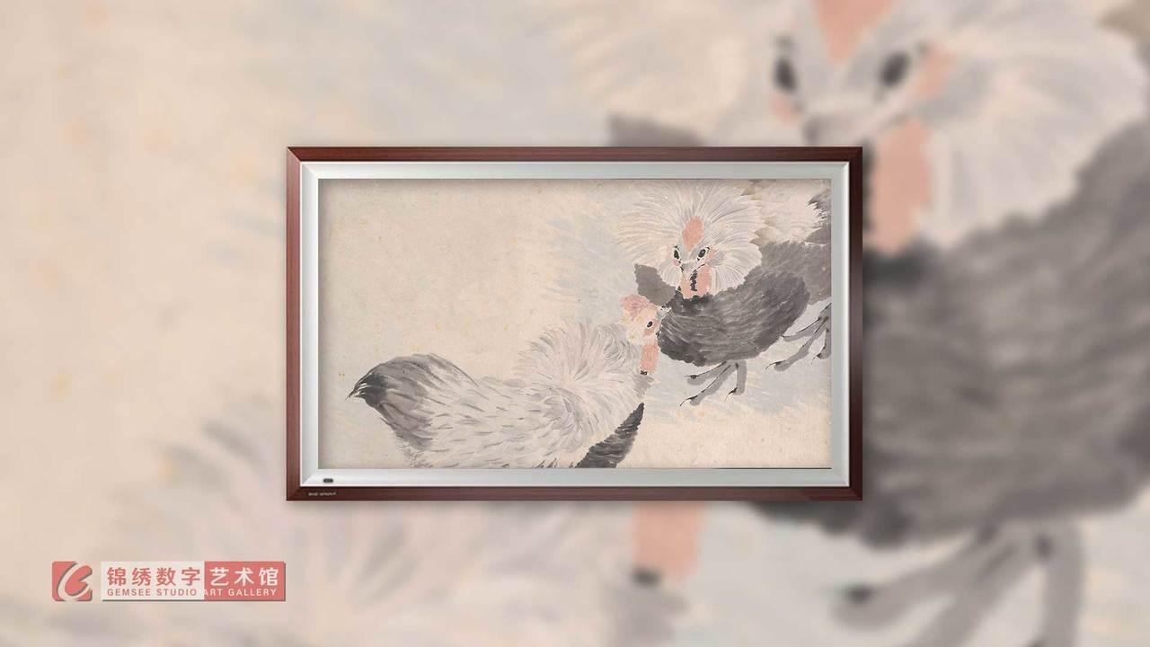画屏 花鸟蔬果册之七 清 任伯年