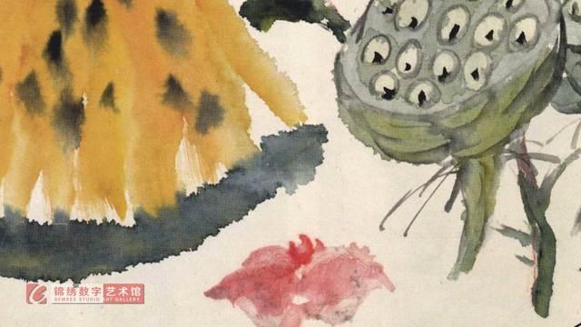 画屏 花卉册之3莲瓜 清 蒲华