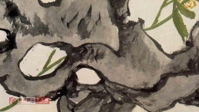 画屏 花卉册之6 清 蒲华